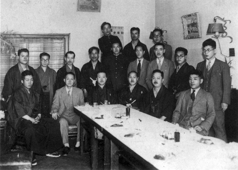 Front row far left: Yamada Tatsuo at the Butokusai in 1938.
