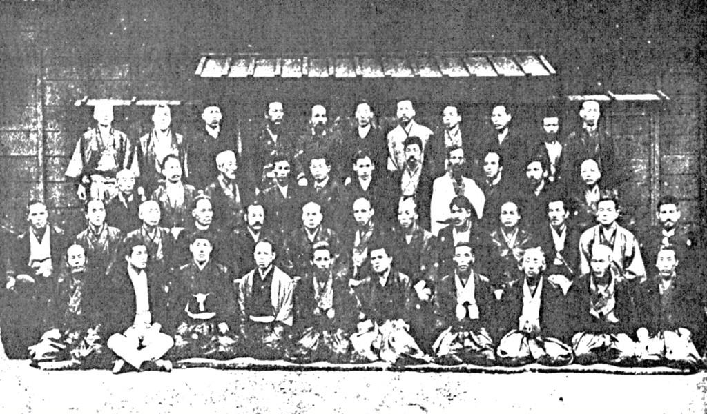 Die zuständigen Ausbilder zur Betreuung der Kampfkünste im Metropolitan Police Department für die Polizeiausbildung im Kenjutsu, Jūjutsu, und Toritejutsu