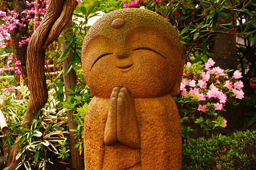 A happy buddha.