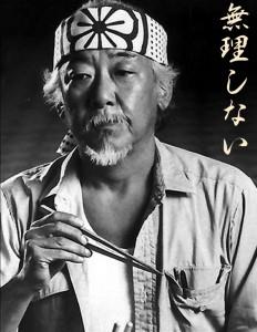 """""""Don't overdo"""", says Mr. Miyagi. Among others."""