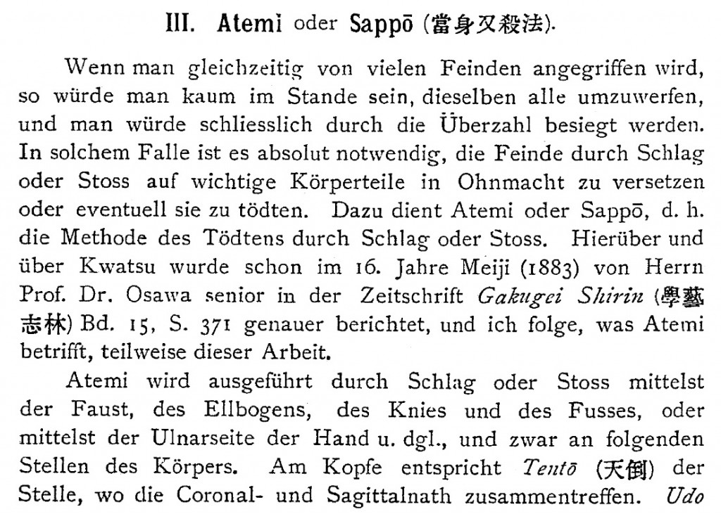 On jūjutsu and yawara, 1898, by Prof. Dr. Miura
