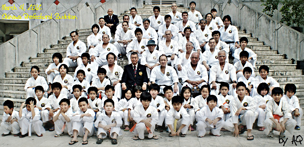 On the day of Nagamine Takayoshi Soke's last public performance. March 04, 2012, Okinawa Prefectural Budokan