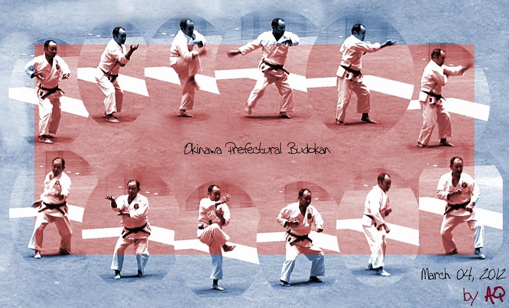 Nagamine Takayoshi Soke's last public performance. March 04, 2012, Okinawa Prefectural Budokan