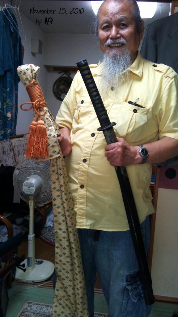 Hamamoto Sensei's sword museum, November 15, 2010, Okinawa.