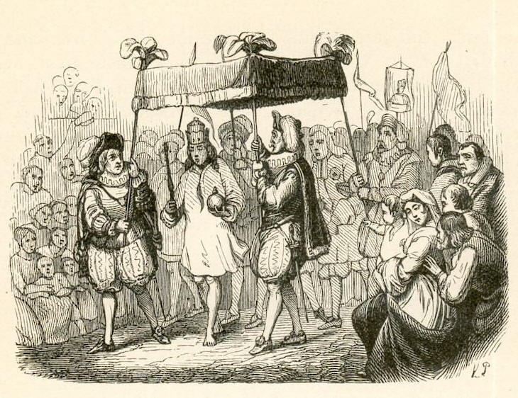 """""""The Emperor's New Clothes"""", 1837, Vol III of """"Fairy Tales Told for Children""""."""