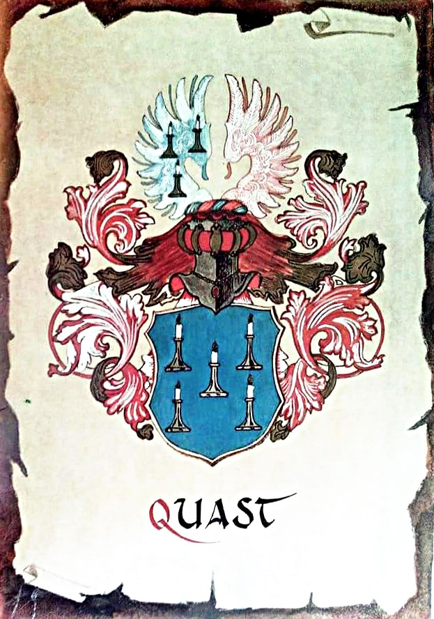 Coat of arms of the house of Quast.