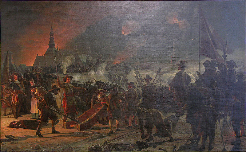 Danish defenders fire at the attackers, 11 February 1659.