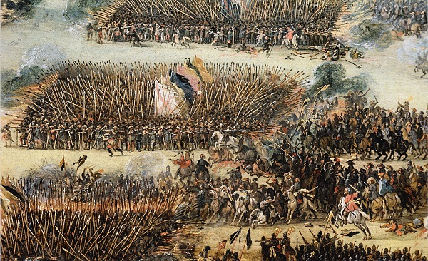 Spanish Tercios: In the Eighty Years' War (Dutch War of Independence, 1568-1648) Spanish troops fought against the Dutch in deeply staggered pike formations. The Tercios were considered the best infantry squads in Europe.