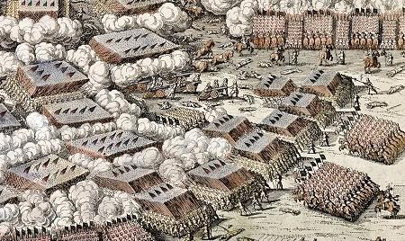 Battle of Breitenfeld (1631) between Imperial formations and Sweden (excerpt).