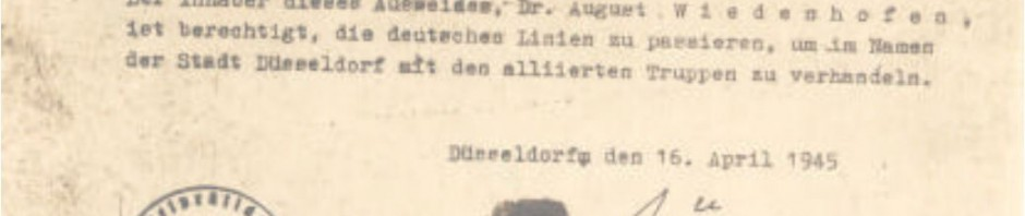 Permit for Aloys Odenthal and Dr. August Wiedenhofen