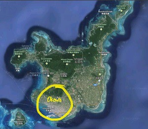 Location of the Okawa area on Ishigaki Island.