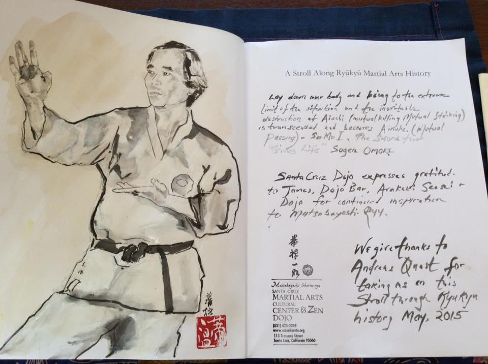 Lara's painting of the late Makishi Yasuharu Sensei.
