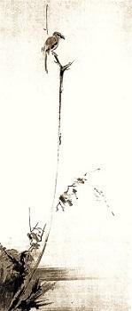 "UnbenanntMusashi's ""Red-backed Shrike on a dead tree"""