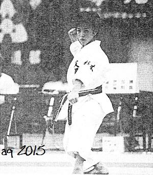 "1998, Mochizuki Rina (Utsunomiya Bunsei Girls' High School), winner of the individual girls category with ""Chatan Yara Kūsankū"" at the Summer Inter-High-School Championships."