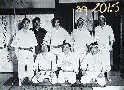 February 1933, Ikaho Onsen in Gunma prefecture. Photography of the meeting with Master Yabiku Mōden in the branch Dōjō.