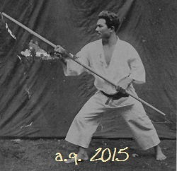 Taira Shinken in the Karate-dō Taikan 1938.