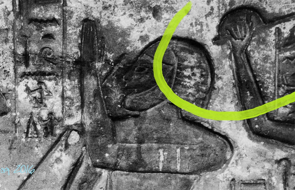"Maginification of the hand guard. Stock Fechter representations under the ""Window of Appearance"" (or snapshot of life) of Ramses III."