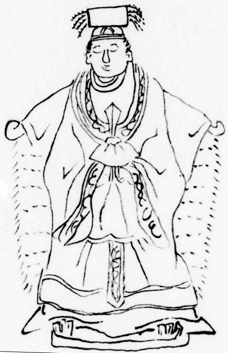 Depiction of Tenpi (Mazu) from the Ōshima Hikki, Kōchi Prefectural Library.