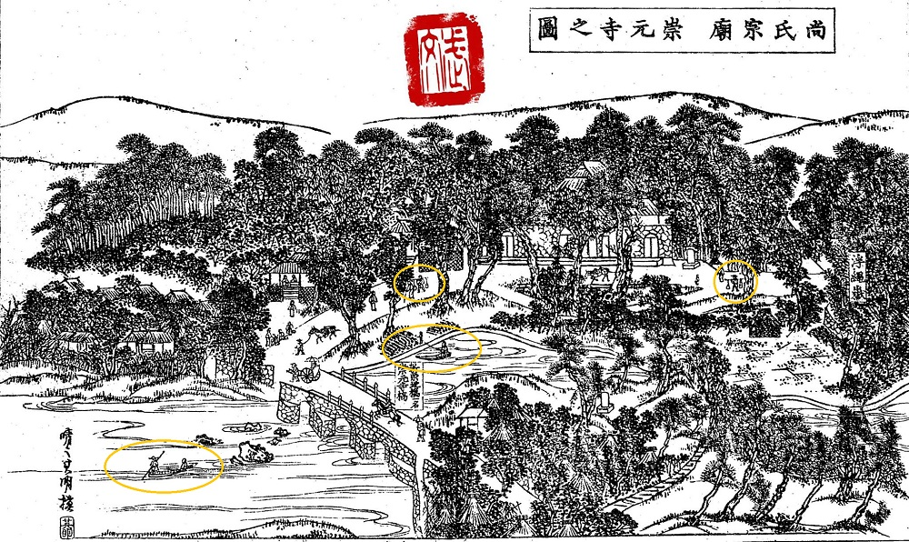 19th century illustration of the Sogen-ji area in Tomari.