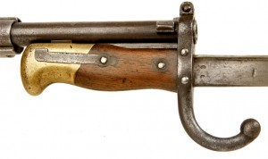 Detail of the Chassepot Fusil modèle 1866 with bayonet. Photo from: www.deactivated-guns.co.uk