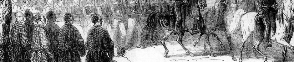 Admiral Guérin and French marines embark at Tomari in 1855.