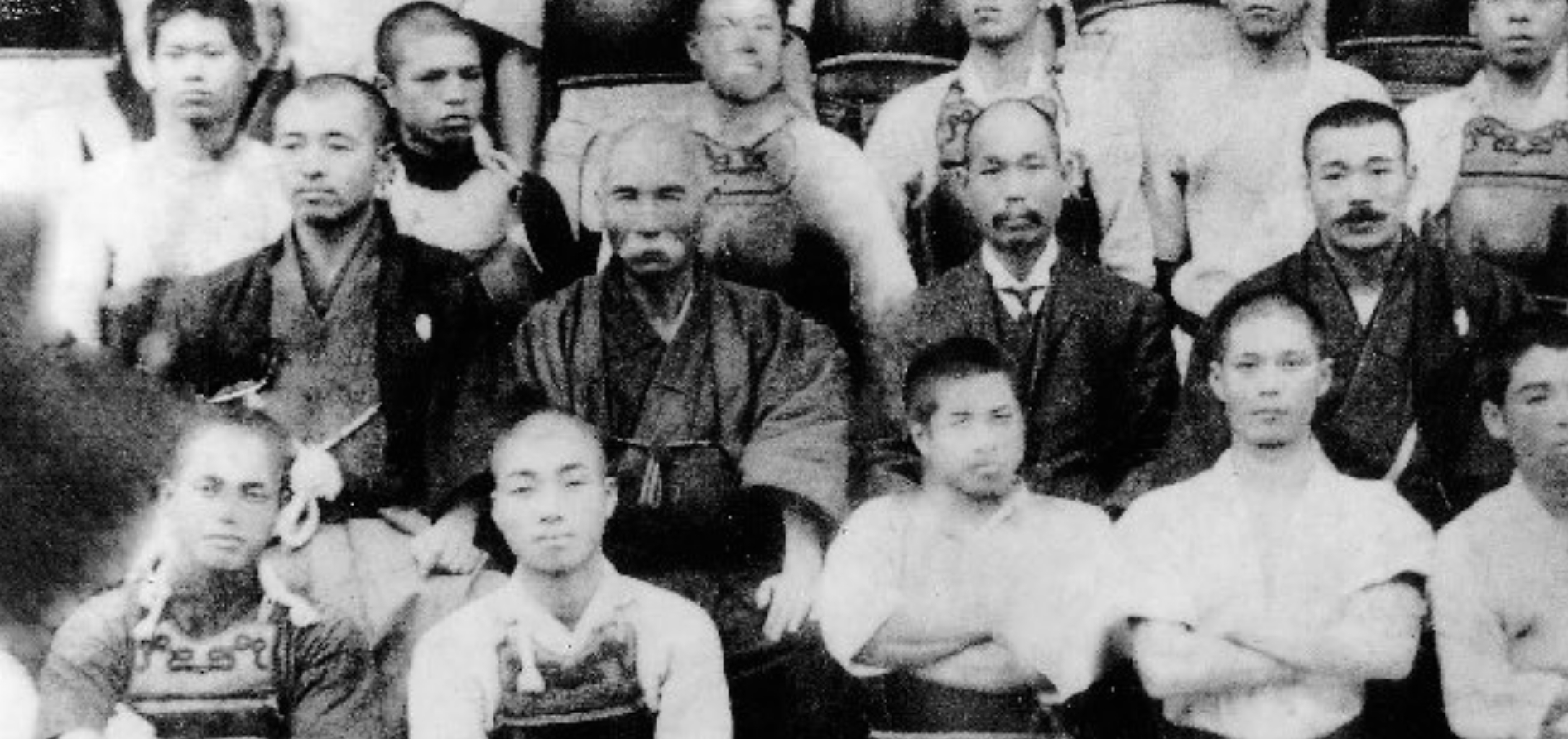 "In its July 2006 issue, ""Monthly Karatedō"" magazine (now discontinued) reported about a ""major historic discovery"". This refers to the above photograph. In its center can be seen a man with a mustache. This man was considered to be Itosu Ankō. At that time, the Okinawa Times also took up the news, but the man with the mustache was now identified as being a different person, namely Miyake Sango."